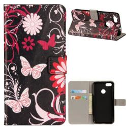 Plånboksfodral Oneplus 5T - Svart med Fjärilar