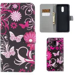 Plånboksfodral OnePlus 6T - Svart med Fjärilar