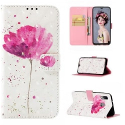 Plånboksfodral Samsung Galaxy A20e – Rosa Blomma