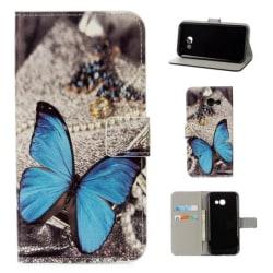 Plånboksfodral Samsung Galaxy A3 (2017) – Blå Fjäril