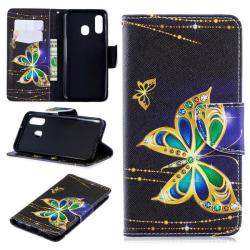 Plånboksfodral Samsung Galaxy A40 – Guldfjäril