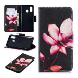 Plånboksfodral Samsung Galaxy A40 – Rosa Blomma