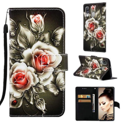 Plånboksfodral Samsung Galaxy A40 – Rosor