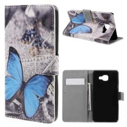 Plånboksfodral Samsung Galaxy A5 (2016) – Blå Fjäril