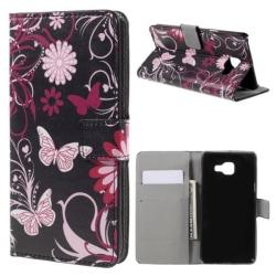 Plånboksfodral Samsung Galaxy A5 (2016) - Svart med Fjärilar