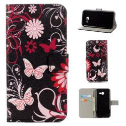 Plånboksfodral Samsung Galaxy A5 (2017) - Svart med Fjärilar