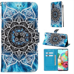 Plånboksfodral Samsung Galaxy A51 – Blå Mandala