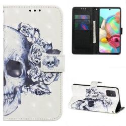 Plånboksfodral Samsung Galaxy A51 – Döskalle / Rosor
