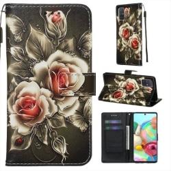 Plånboksfodral Samsung Galaxy A51 – Rosor