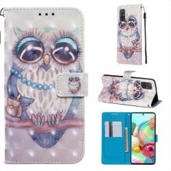 Plånboksfodral Samsung Galaxy A51 – Utsmyckad Uggla