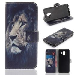 Plånboksfodral Samsung Galaxy A6 (2018) – Lejon
