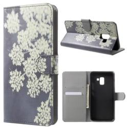 Plånboksfodral Samsung Galaxy A6 (2018) - Små Blommor