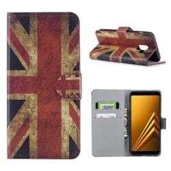 Plånboksfodral Samsung Galaxy A6 Plus - Flagga UK