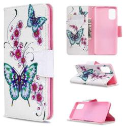 Plånboksfodral Samsung Galaxy A71 – Fjärilar och Blommor
