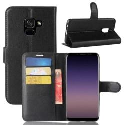 Plånboksfodral Samsung Galaxy A8 (2018) – Svart Black