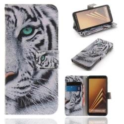 Plånboksfodral Samsung Galaxy A8 (2018) – Vit Tiger