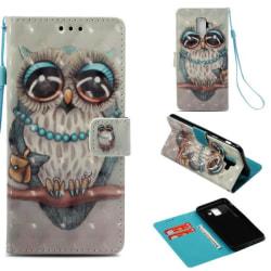Plånboksfodral Samsung Galaxy J6 (2018) – Utsmyckad Uggla