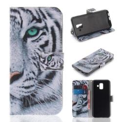 Plånboksfodral Samsung Galaxy J6 (2018) - Vit Tiger