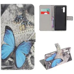 Plånboksfodral Samsung Galaxy Note 10 - Blå Fjäril