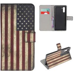 Plånboksfodral Samsung Galaxy Note 10 - Flagga USA