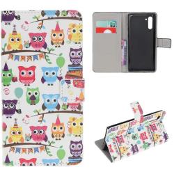 Plånboksfodral Samsung Galaxy Note 10 - Ugglor På Kalas