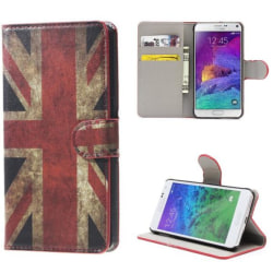 Plånboksfodral Samsung Galaxy Note 4 (SM-N910F) - Flagga UK
