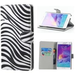 Plånboksfodral Samsung Galaxy Note 4 (SM-N910F) - Zebra