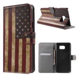 Plånboksfodral Samsung Galaxy Note 5 - Flagga USA