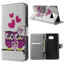 Plånboksfodral Samsung Galaxy Note 5 – Ugglor & Hjärtan