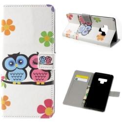 Plånboksfodral Samsung Galaxy Note 9 - Ugglor & Blommor