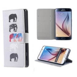 Plånboksfodral Samsung Galaxy S6 Edge Plus - Elefanter