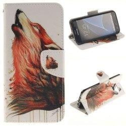 Plånboksfodral Samsung Galaxy S7 Edge - Röd Varg