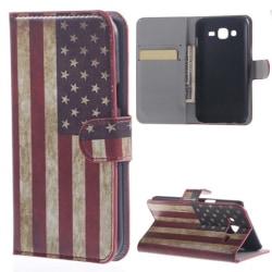 Plånboksfodral Samsung J5 (2015) - Flagga USA