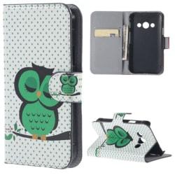 Plånboksfodral Samsung Xcover 3 (SM-G388F) – Prickigt med Uggla