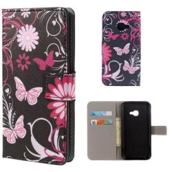 Plånboksfodral Samsung Xcover 4 / 4s - Svart med Fjärilar