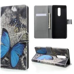 Plånboksfodral Sony Xperia 1 - Blå Fjäril