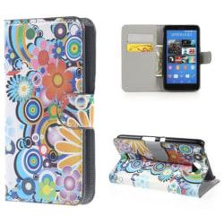 Plånboksfodral Sony Xperia E4 - Blommor & Cirklar
