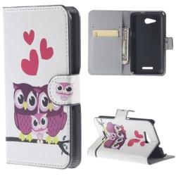 Plånboksfodral Sony Xperia E4g – Ugglor & Hjärtan