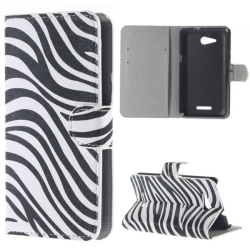 Plånboksfodral Sony Xperia E4g - Zebra