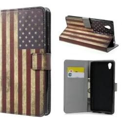 Plånboksfodral Sony Xperia L1 - Flagga USA