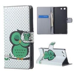 Plånboksfodral Sony Xperia M5 – Prickigt med Uggla