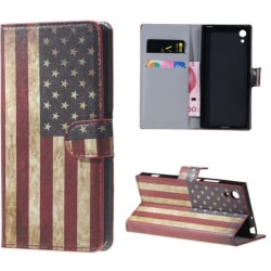 Plånboksfodral Sony Xperia XA1 - Flagga USA