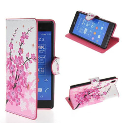 Plånboksfodral Sony Xperia Z3 - Blommor / Cherry Tree
