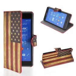 Plånboksfodral Sony Xperia Z3 - Flagga USA