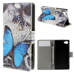 Plånboksfodral Sony Xperia Z5 Compact – Blå Fjäril