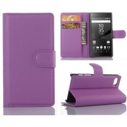 Plånboksfodral Sony Xperia Z5 Compact - Lila