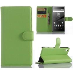Plånboksfodral Sony Xperia Z5 - Grön