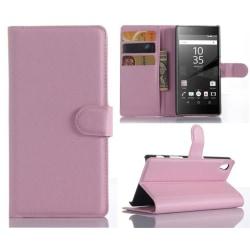 Plånboksfodral Sony Xperia Z5 - Ljusrosa