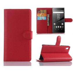 Plånboksfodral Sony Xperia Z5 - Röd