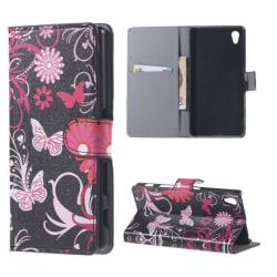 Plånboksfodral Sony Xperia Z5 - Svart med Fjärilar